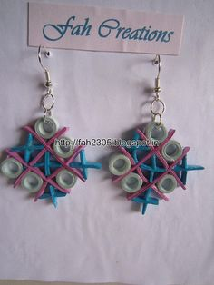 Handmade Jewelry - Paper Quilling Earrings (13)