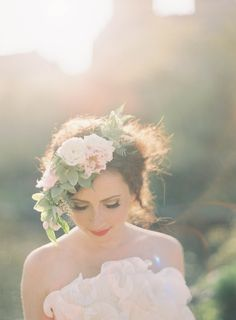 Poppies & Posies Hair Wreath. Jen Huang Photography