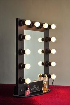 """Our Hollywood Glam Vanity Mirror in """"Black"""" . #vanitymirror #vanitylights"""
