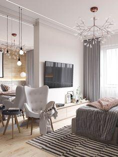 Cozy Scandinavian Style Home With Green Decor Ideas - Page 23 of 32 Modern Bedroom Design, Decor Interior Design, Interior Ideas, Decoracion Vintage Chic, Scandinavian Style Home, Scandinavian Bedding, Scandinavian Design, Nordic Style, Futuristisches Design
