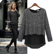 Buy 2015 fall fashion women's false two long sleeved jacket T-shirt bottoming sweaters new plus size Womens Fashion beaded casual Sweaters Pullovers Faux 2 pieces at Wish - Shopping Made Fun Casual Sweaters, Sweaters For Women, Pullover, European Fashion, European Style, Long Sleeve Sweater, Types Of Sleeves, Casual Chic, Beautiful Outfits