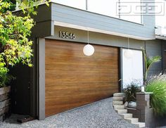 mid century modern garage doors wood — Rustzine Home Decor : Custom Mid Century Modern Garage Doors