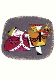 Mary Blair's concept art for Walt Disney's Alice in Wonderland Mary Blair, Alice In Wonderland 1951, Adventures In Wonderland, Pixar, Disney Artists, Disney Concept Art, Found Art, Cute Illustration, Walt Disney