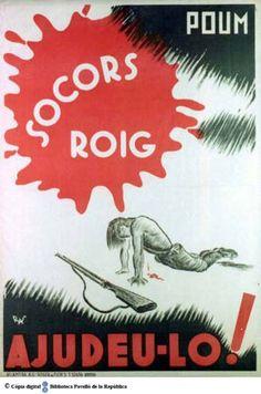Socors Roig : ajudeu-lo! :: Cartells del Pavelló de la República (Universitat de Barcelona)