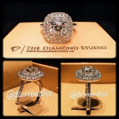 The halo king doing it again. This amazing ring was made with a 1.31ct cushion cut diamond. The diamond sits on a tight double Italian pave cushion halo. The thin shank also features diamonds in an Italian pave setting.  #diamond #diamonds #wedding #weddings #engagement #ring #rings #bride #brides #jewellery #jewelry #halo #thediamondstudio #diamondboi