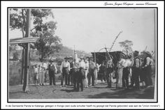 Panda ''Union minière'' schuttersmaatschappij (postkaart of foto), Panda, Katanga, Kongo (museum Rixensart-Jacques Raepsaet)