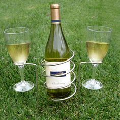 Vinotemp Epicureanist Wine Bottle and Glass Holding Stakes & Reviews | Wayfair- For more amazing finds and inspiration visit us at http://www.brides-book.com