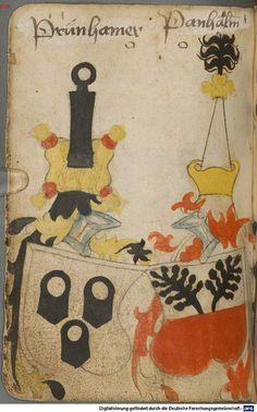 Ortenburger Wappenbuch Bayern, 1466 - 1473 Cod.icon. 308 u  Folio 86v