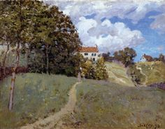 Landscape with Houses - Alfred Sisley