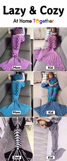 #FreeShipping #Mermaid #Blanket #ForFamily Start From $5   Up To 75% OFF   Sammydress.com