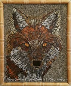 Fox mosaic created at Obsessive Creative Disorder :) Disorders, Rooster, Mosaic, Moose Art, Fox, Creative, Animals, Animales, Animaux