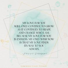 My love for you ...