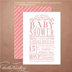 Printable Baby Shower Invitation - Kraft Party Invite, DIY print your own party invite. $18,00, via Etsy.