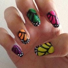 My butterflies nails!!!