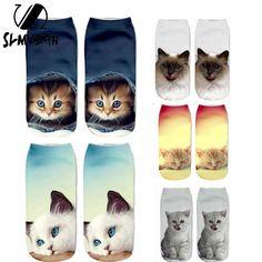 Low Ankle HOT 3d Print Cat Socks