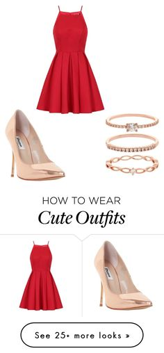 """""""cute date night outfit"""" by yahayragarcia on Polyvore featuring Chi Chi, Dune and Accessorize"""