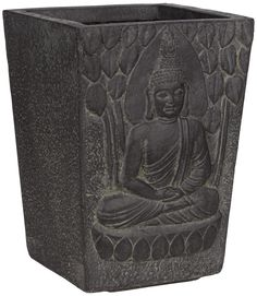 Sitting Buddha Clay Fibre Planter -