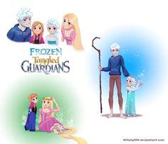 Frozen Tangled Guardians by Milady666.deviantart.com on @deviantART
