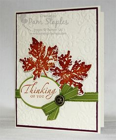 Gently Falling - Stampin' Up!
