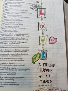 """Love Joanne's Color Peace portable size coloring book. I removed a perfed page to trace """"Love"""" into my Bible. Credited her artwork @ the bottom of the page. #biblejournaling"""