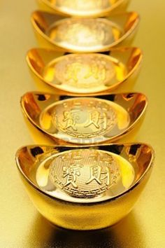 Chinese gold ingots  Precious metals investments with http;//londoncommoditymarkets.com