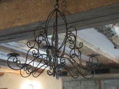 Outdoor/Indoor Cast Iron Candle Chandelier
