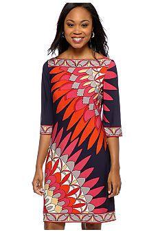 Donna Morgan Print Shift Dress #belk #color