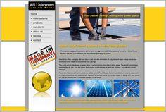 Webdesign und Online Marketing der internationalen Firma JM Solarsystems. http://www.jm-solarsystems.com
