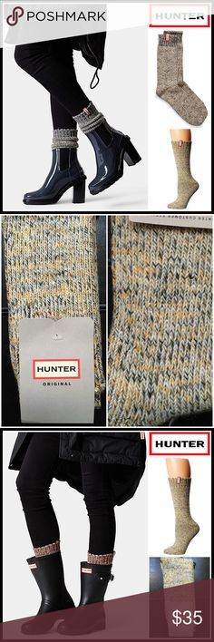 HUNTER ORIGINAL Boot Socks 💟 NEW WITH TAGS 💟  HUNTER ORIGINAL Boot Socks  * Super soft, cozy & comfortable fabric * Wool blend construction w/ ribbed knit detail * Stretch-to-fit * One size fits many, approx shoes sizes 5.5-9. Midcalf short boot length * Designed for 'Hunter Original Boots' Fabric- 62% acrylic, 21% wool, 11% polyester, 5% nylon, 1% elastane; Machine wash Item# Color-Swamp green, sulfer, grey multi Marled   🚫No Trades🚫 ✅Bundle Discounts✅ Hunter Boots Accessories Hosiery…
