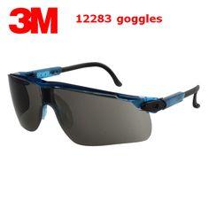e2e33b285d 3M 12283 safety glasses Genuine security 3M protective goggles fashion gray  Anti-fog Anti-UV Riding a sport gafas de seguridad