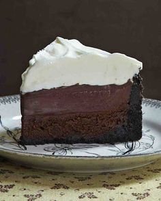 Wow! This was soooo good! It wasn't too rich or heavy, just delicious. The flourless chocolate layer... Mmmm! I did increase the cornstarch a little in the pudding layer to a heaping 1/4 cup. - Mississippi Mud Pie (aka Muddy Mississippi Cake)