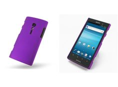 PDair Rubberized Hard Cover for Sony Xperia Ion LT28i (Purple)