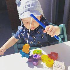 """Hij mocht z'n nieuw spelletje """"visjes vangen"""" spelen vandaag! #spelen #thuisblijven #blijfthuis  #kinderen #ouders #haba #speelgoed Om, Cake, Desserts, Tailgate Desserts, Pie, Kuchen, Dessert, Cakes, Postres"""