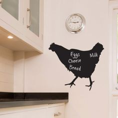 Chalkboard Wall stickers Chicken from Serious Onions Ltd | Made By The Vinyl Biz | £16.99 | BOUF