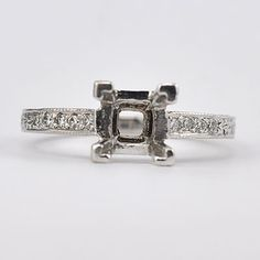 New York, NY Jewelry, engagement rings - Leigh Jay Nacht - Replica Art Deco Mounting - L1080