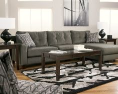 Like this sectional Nebraska Furniture Mart – Ashley Contemporary Sectional with Right Chaise Sectional Living Room Sets, 2 Piece Sectional Sofa, Sofa Couch, Fabric Sectional, Gray Sectional, Ashley Sectional, Leather Sectional, Small Sectional, Sofa Beds