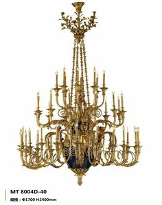 Luxury french barss chandelier 8004D-40