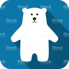 Niedźwiedź polarny stojący ikonę stylu stockowa ilustracja wektorowa royalty-free