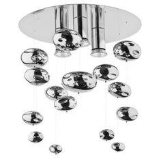 Lampa sufitowa Salva C ze szklanymi zwisającymi bańkami