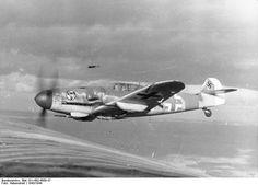 """british-eevee: """" Bf 109G-6 fighter of JG 27 in flight(1943/44) """""""