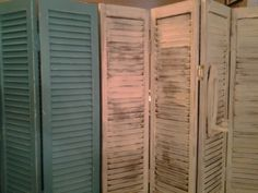 #vintage #faux #stained #shutters #craft