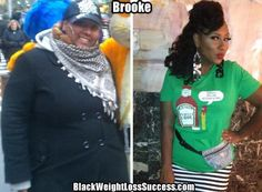 """Brooke lost 100 pounds with the help of the Oxygen show """"My Big Fat Revenge""""."""