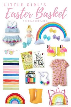 Little girls easter basket ideas toddler easter basket spring easter ideas toddler swimsuits toddler beach must haves rainbow gifts easter basket ideas crochet easter basket as easter gift ideas for kids girls easter baskets easter baskets for boys Baby Easter Basket, Easter Baskets For Toddlers, Unique Easter Basket Ideas, Easter Gifts For Kids, Toddler Beach, Toddler Girls, Baby Girls, Diy Ostern, Easter Crafts