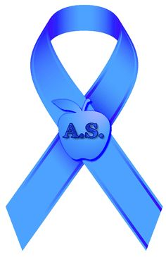 Ankylosing Spondylitis blue ribbon for hope!