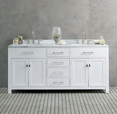 Hutton Double Vanity Sink White  (Includes sink top, base and basin)  $3095