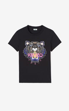 Kenzo Tiger T-shirt In Black Painted Jeans, Tiger T Shirt, Kenzo, Short Sleeves, Mens Tops, Shirts, Clothes, Outfits, Birthday