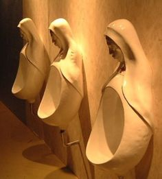 Most Unusual Urinals Ever. Can you even imagine a urinal this strange and unusual. Please Comment. Public Bathrooms, Girl Bathrooms, Small Bathrooms, Toilet Design, Bathroom Fixtures, Bathroom Inspiration, Life Inspiration, Oeuvre D'art, Character Shoes