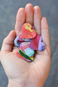 Little hearts made with Sculpty for random acts of kindness.