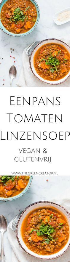 Tomaten Linzensoep #veganistisch #vegan #soep #plantbased #plantaardig #linzensoep