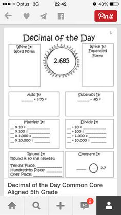 $5 resource for decimals - like the sheet